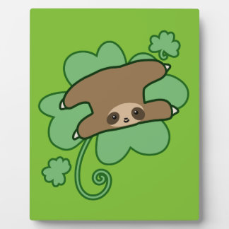 Lucky Clover Sloth Display Plaques