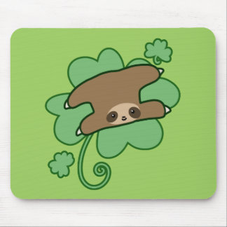 Lucky Clover Sloth Mouse Pad