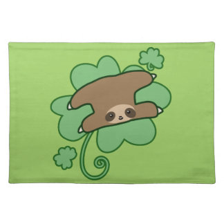 Lucky Clover Sloth Placemat
