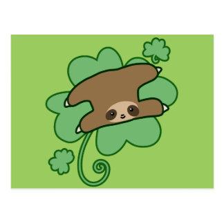 Lucky Clover Sloth Postcard