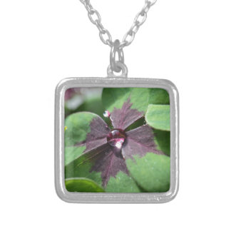 Lucky Clover Square Pendant Necklace