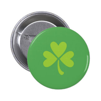Lucky Clover St. Patrick's Day Shamrock button