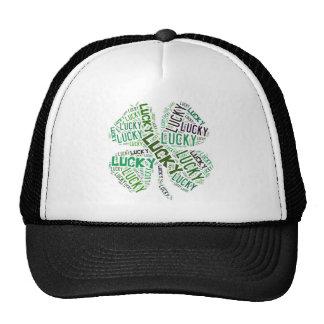 Lucky Clover Word Art Cap