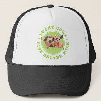 Lucky cows give more better milk trucker hat