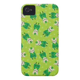 Lucky Cute Frenchie on St. Patrick's Day Case-Mate iPhone 4 Cases