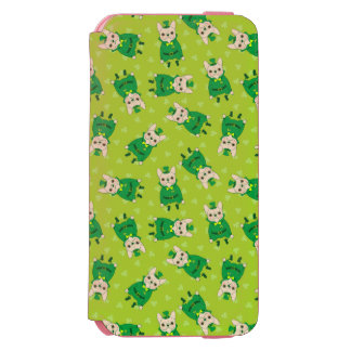 Lucky Cute Frenchie on St. Patrick's Day Incipio Watson™ iPhone 6 Wallet Case