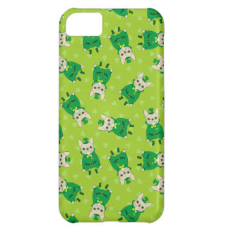 Lucky Cute Frenchie on St. Patrick's Day iPhone 5C Case