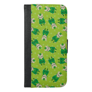 Lucky Cute Frenchie on St. Patrick's Day iPhone 6/6s Plus Wallet Case