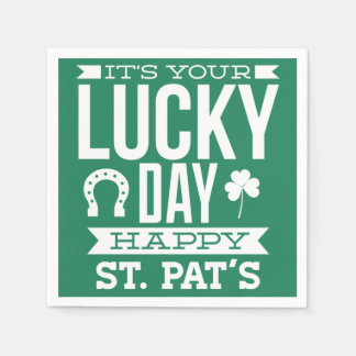 Lucky Day St Patricks Day Napkins Disposable Napkin