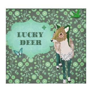 Lucky Deer Canvas Art