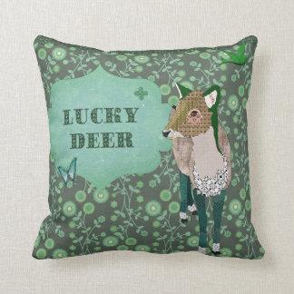Lucky Deer Green Mojo Pillow Cushions