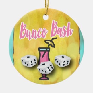 Lucky Dice Bunco Bash Ceramic Ornament
