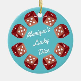 Lucky Dice - Bunco Night Christmas Ornament