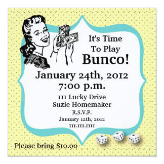 Lucky Dice Bunco Player Invitation by Artinspired
