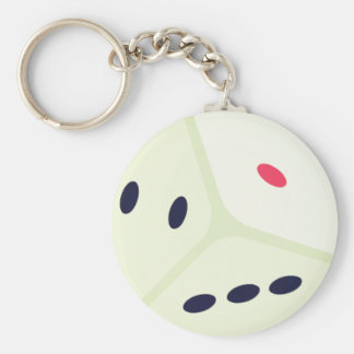 Lucky Dice Emoji Key Ring