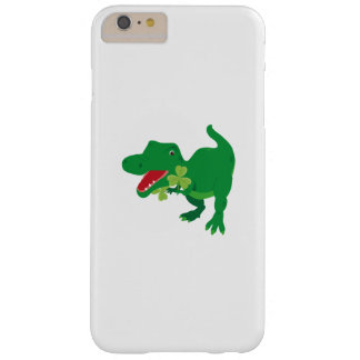 Lucky Dinosaur Shamrocks Kids St. Patrick's Day Barely There iPhone 6 Plus Case