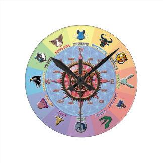 Lucky Dozen Round Clock