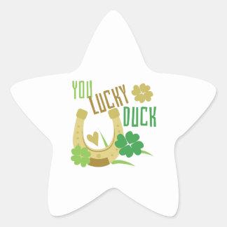 Lucky Duck Star Sticker