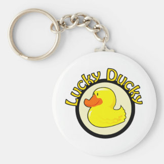 Lucky Ducky Basic Round Button Key Ring