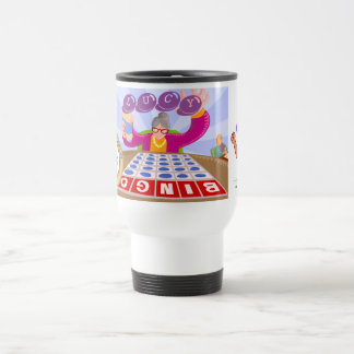 Lucky Elephant Bingo Travel Mug