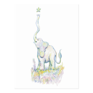 Lucky Elephant Postcard
