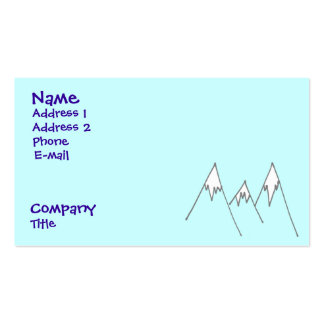 Lucky enough to be in mountains business card template