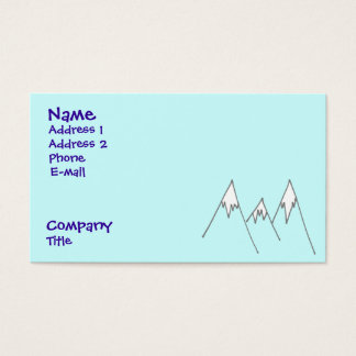Lucky enough to be in mountains business card