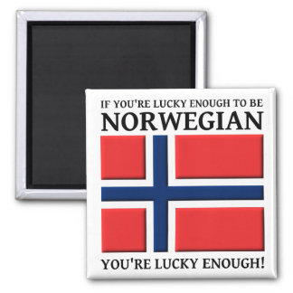 Lucky Enough To Be Norwegian Magnet