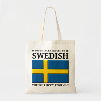 Lucky Enough To Be Swedish Bag Tote