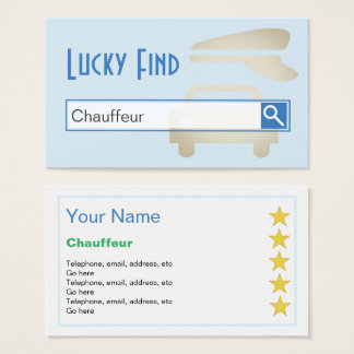 """Lucky Find"" Chauffeur Business Cards"