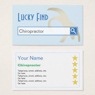 """Lucky Find"" Chiropractor Business Cards"