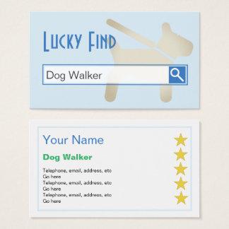 """Lucky Find"" Dog Walker Business Cards"