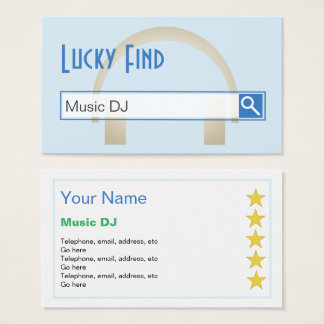 """""""Lucky Find"""" Music DJ Business Cards"""