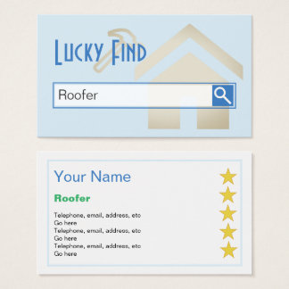"""Lucky Find"" Roofer Business Cards"