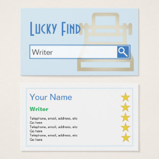 """""""Lucky Find"""" Writer Business Cards"""