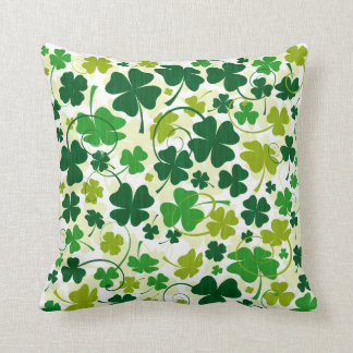 Lucky Floral Clovers Cushion