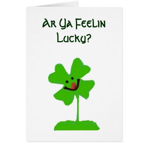 Lucky Four Leaf Clover Card