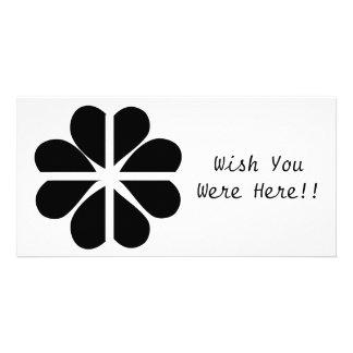 Lucky Four Leaf Clover Cornish Flag Customised Photo Card