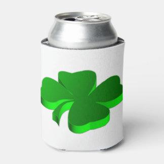 Lucky Four Leaf Clover Green Symbol Good Luck Can Cooler