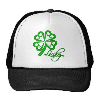 Lucky Four Leaf Clover Mesh Hat