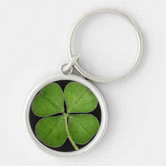 Lucky Four Leaf Clover Pattern Keychain