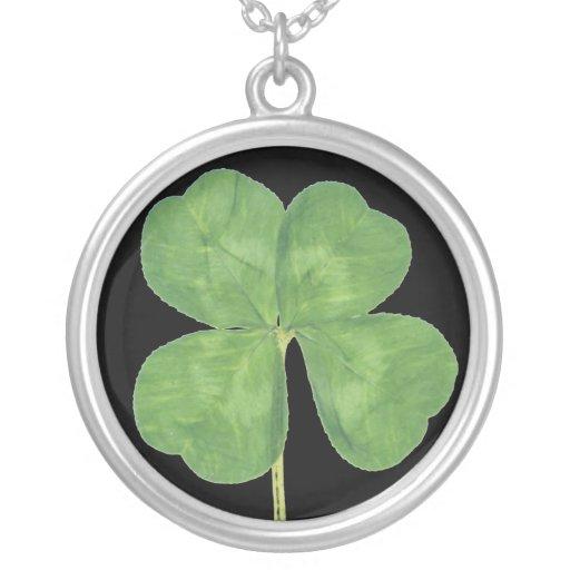 Lucky Four-Leaf Clover Shamrock Necklace Charm