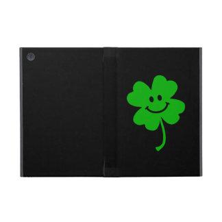 Lucky four leaf clover smiley face iPad mini cases