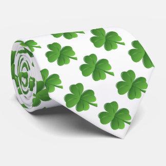 Lucky Four Leaf Clover Tie