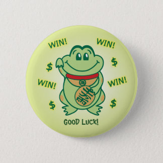 Lucky Frog 6 Cm Round Badge