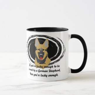 Lucky German Shepherd Owner Mug