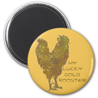 Lucky Gold Rooster | magnet