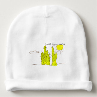 Lucky Golden Cactus Doodle Baby / Toddler Beanie Baby Beanie