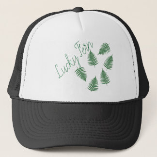 Lucky Green Fern Funky Cap Hat