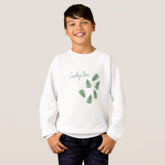 Lucky Green Fern Funky Pattern Long Sleeve Top